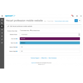 Profession mobile website store (VQMOD) For OpenCart V2