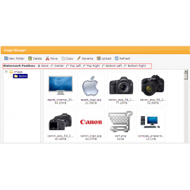 Watermark for upload images For Opencart